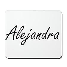 Alejandra artistic Name Design Mousepad