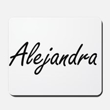 Alejandra artistic Name Design Mousepad