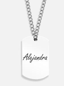 Alejandra artistic Name Design Dog Tags