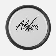 Alena artistic Name Design Large Wall Clock