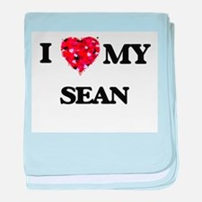 I love my Sean baby blanket