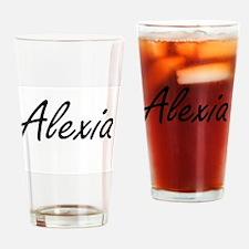 Alexia artistic Name Design Drinking Glass