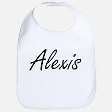 Alexis artistic Name Design Bib