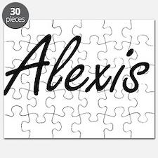 Alexis artistic Name Design Puzzle