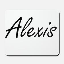 Alexis artistic Name Design Mousepad