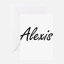 Alexis artistic Name Design Greeting Cards