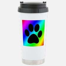 Rainbow Dog Paw Travel Mug