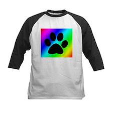 Rainbow Dog Paw Baseball Jersey