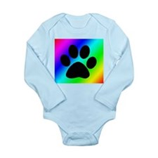 Rainbow Dog Paw Body Suit
