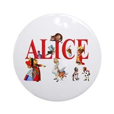 Alice and Friends in Wonderland Ornament (Round)