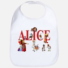 Alice and Friends in Wonderland Bib