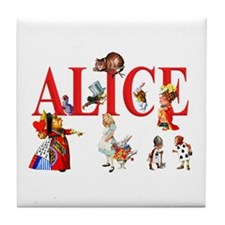 Alice and Friends in Wonderland Tile Coaster
