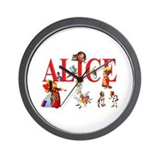 Alice and Friends in Wonderland Wall Clock