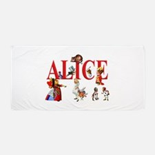 Alice and Friends in Wonderland Beach Towel