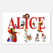 Alice and Friends in Won Postcards (Package of 8)