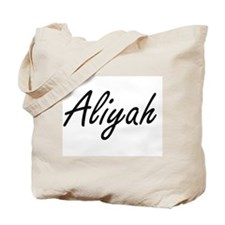 Aliyah artistic Name Design Tote Bag