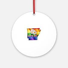 AR GAY MARRIAGE Round Ornament