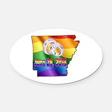 AR GAY MARRIAGE Oval Car Magnet