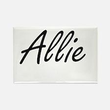 Allie artistic Name Design Magnets