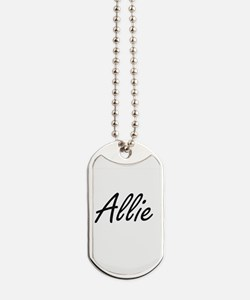 Allie artistic Name Design Dog Tags