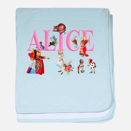 Alice and Friends in Wonderland baby blanket