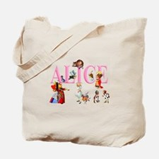 Alice and Friends in Wonderland Tote Bag