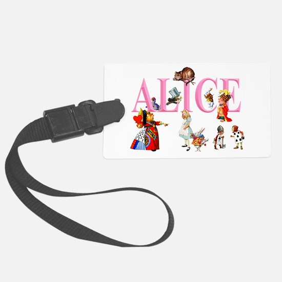 Alice and Friends in Wonderland Luggage Tag
