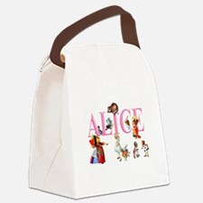 Alice and Friends in Wonderland Canvas Lunch Bag