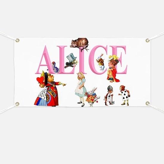 Alice and Friends in Wonderland Banner