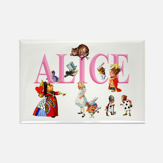 Alice and Friends in Wonderland Rectangle Magnet