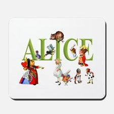Alice and Friends in Wonderland Mousepad