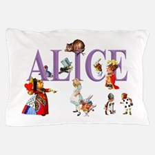 Alice and Friends in Wonderland Pillow Case