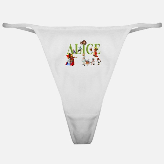 Alice and Friends in Wonderland Classic Thong
