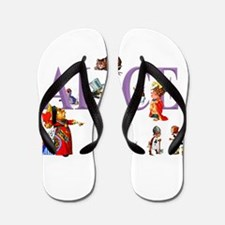 Alice and Friends in Wonderland Flip Flops