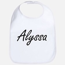Alyssa artistic Name Design Bib