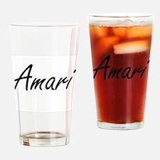 Amari artistic Name Design Drinking Glass