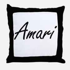 Amari artistic Name Design Throw Pillow
