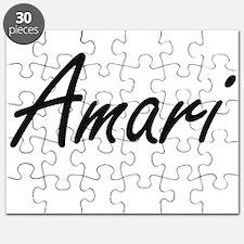 Amari artistic Name Design Puzzle