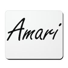 Amari artistic Name Design Mousepad