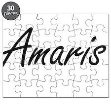 Amaris artistic Name Design Puzzle