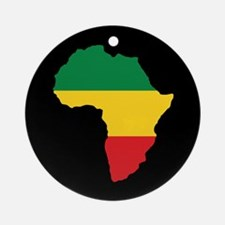 Green, Gold and Red Africa Flag Ornament (Round)