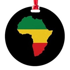 Green, Gold and Red Africa Flag Ornament