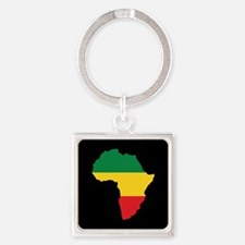 Green, Gold and Red Africa Flag Keychains