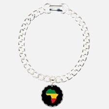 Green, Gold and Red Africa Flag Bracelet