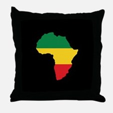 Green, Gold and Red Africa Flag Throw Pillow