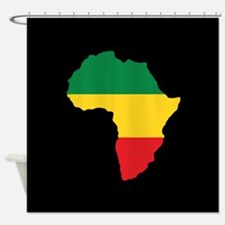 Green, Gold and Red Africa Flag Shower Curtain