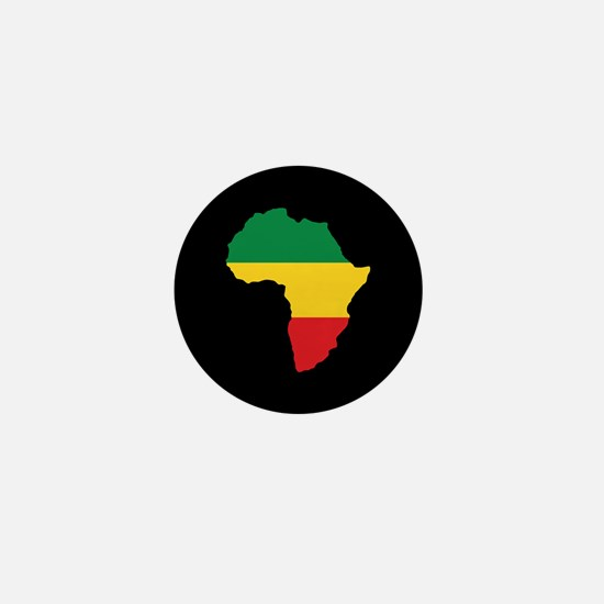 Green, Gold and Red Africa Flag Mini Button