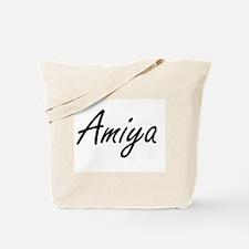 Amiya artistic Name Design Tote Bag