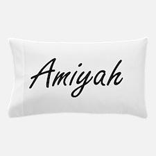 Amiyah artistic Name Design Pillow Case