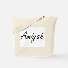 Amiyah artistic Name Design Tote Bag